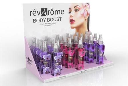 44RBB-D02  REVAROME BODY BOOST DISPLAY 24pcs + 3 TESTERS