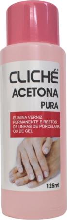 49006  ACETONA PURA 125ML CLICHE 12 UND